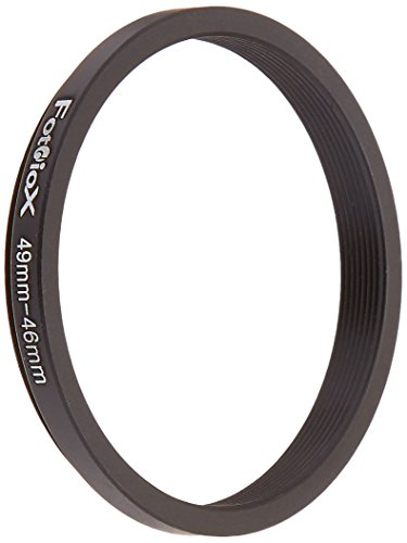 Fotodiox Metal Step Down Ring Filter Adapter, Anodized Black Aluminum 49mm-46mm, 49-46 mm