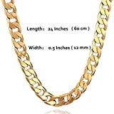 Men Chunky Hip Hop Chain Necklace ,Copper with