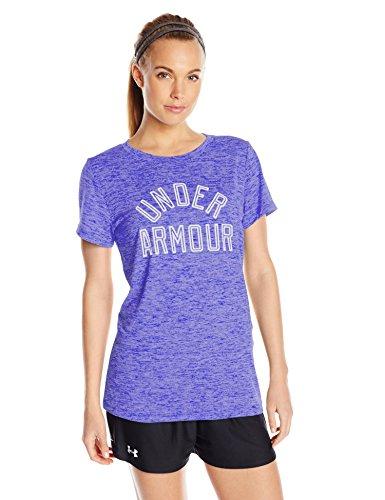 Under Armour Women's Tech T-Shirt - Twist Graphic,Constellation Purple/White, Small