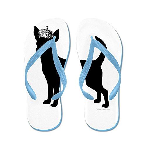 Cafepress Blijf Rustig En Volg Je Hond - Flip Flops, Grappige String Sandalen, Strand Sandalen Caribbean Blue