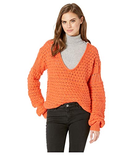 Free People Women's Crashing Waves Pullover Red Medium from Free People