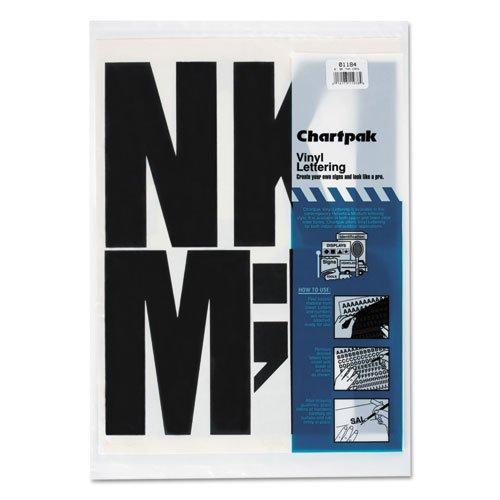 Vinyl Uppercase Letters - Press-On Vinyl Uppercase Letters, Self Adhesive, Black, 6\h, 38/Pack
