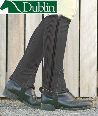 Dublin Easy Care Half Chaps Adult XLarge Black ()