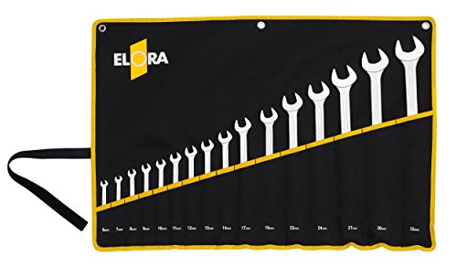 Elora 205501701005 Combination spanner set Form B 6-22mm in bag (17 Piece) (22 Spanner Combination Mm)