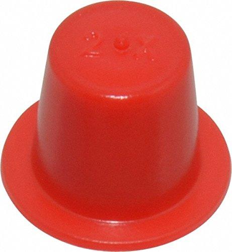 Press Fit Plug, 1/8 NPT OD, Polyethylene, Red 100 Pack