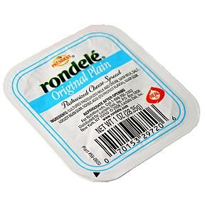 Rondele Plain Cheese Spread,1 Ounce -- 48 per case. (Cheese Pepper Spread)