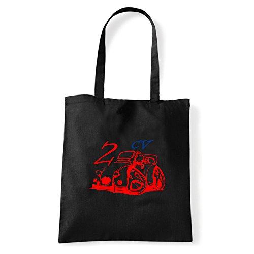 2 cv shirt À Pour Femme bag T Art Porter Sac Noir L'épaule qZEx8tnF