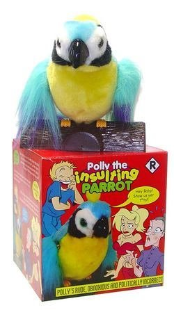 Amazon.com  Polly the Insulting Parrot - Funny talking animal ... 2cadf5247f