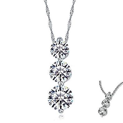 S925 plata pura collar colgante niña estilo adorno de moda de gama alta joyería joyería de las mujeres Colgante de regalo de Navidad: Amazon.es: Joyería