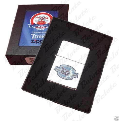 ZIPPO Limited Edition NFL AFL 50th Anniversary Tennessee Titans Lighter 24861