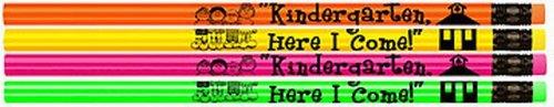 Kindergarten, Here I Come Pencils! 144 Assorted Neon Pencils
