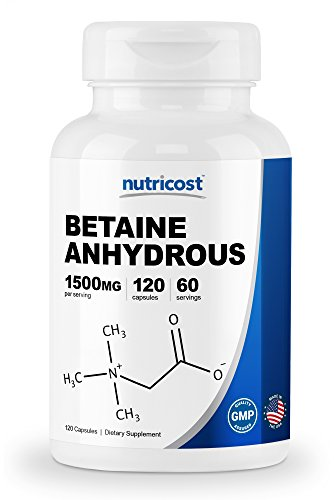 Nutricost Betaine Anhydrous Capsules 1500mg, 60 Servings