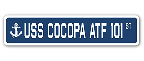 USS COCOPA ATF 101 Street Sign us navy ship veteran sailor (101 Street Sign)