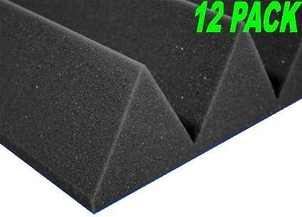 12 x 12 4 Wedge Foam - Charcoal 12PK