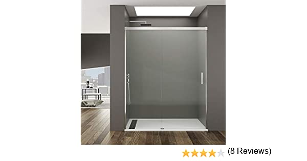 Mampara de Ducha - GME - Basic Frontal - 1 Hoja Fija + 1 Hoja Corredera - Medida - 110-115 cm: Amazon.es: Bricolaje y herramientas