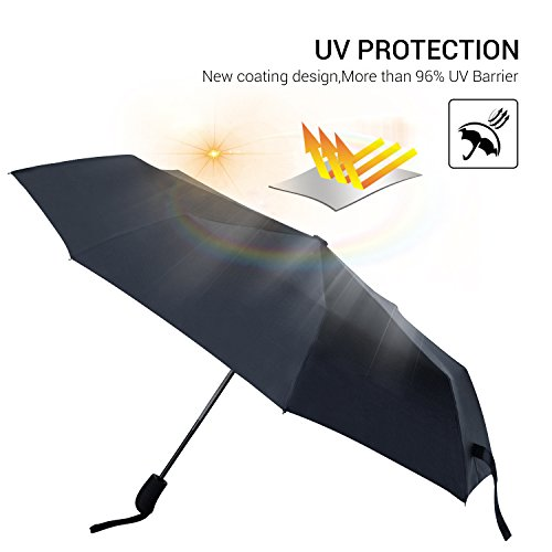 Automatic Travel Umbrella, Unbreakable Windproof Compact Umbrellas with UV Protection, Auto Open and Close, Portable and - Today Galleria Open