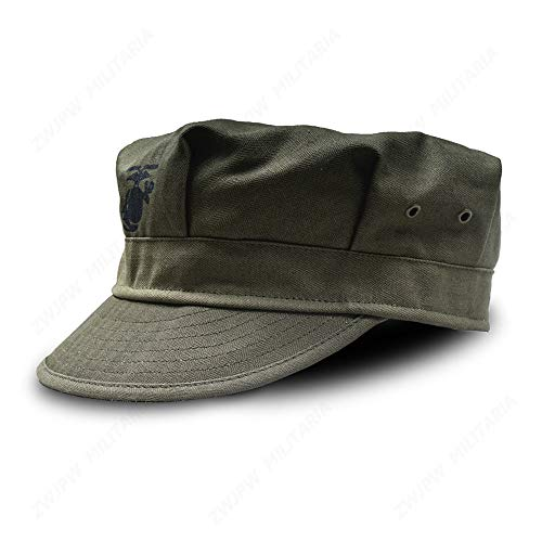 WW2 US HBT USMC Green Marine Corps Cap Hat Replica