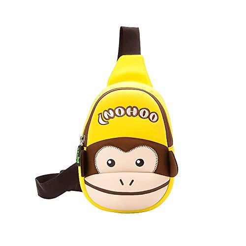 NOHOO monkey backpack 3d Cartoon sling bag kids Crossbody Shoulder Bag for Kindergarten Toddler 2-7 Years...