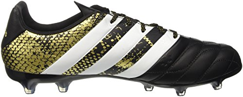 adidas Ace 16.2 FG Leather, Scarpe da Calcio Uomo Oro (Core Black/Ftwr White/Gold Metallic)