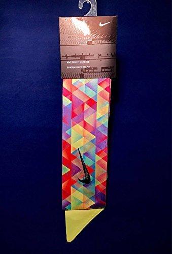 Color Prism Nike Dri-Fit Head Tie 2.0 Volt Black Swoosh