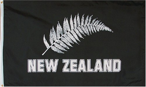 3x5 foot New Zealand Football Silver Ferns Flag by SevenBros