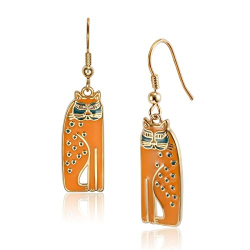 (Laurel Burch Classics Collection Siamese Cats Drop Earrings)