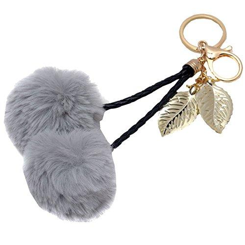 melie-bianco-girls-gray-faux-cherry-pom-pom-gold-leaf-keychain