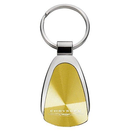 Au-TOMOTIVE GOLD Compatible Keychain and Keyring for Chrysler Gold Teardrop KCGOLD.CHR