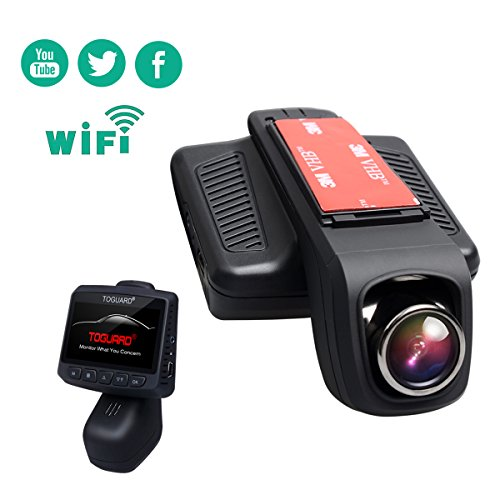 TOGUARD Car Dash Cam WiFi 170 Degree Wide Angle Lens Stealth Full HD 1080P Dash Camera 2.45