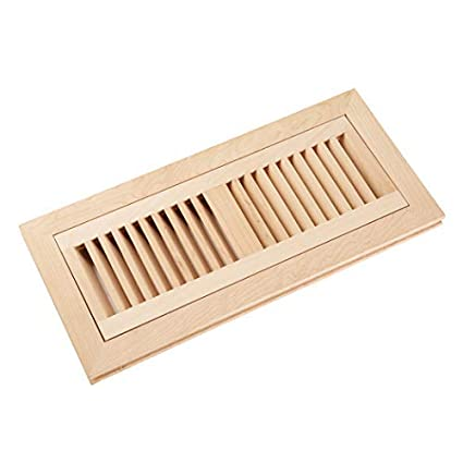 Homewell Maple Wood Floor Register Vent, Flush Mount with Frame, 4x12 Inch, Unfinished - - Amazon.com