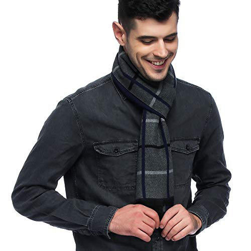 HOYAYO Mens Classic Cashmere Warm Long Winter Scarf ()