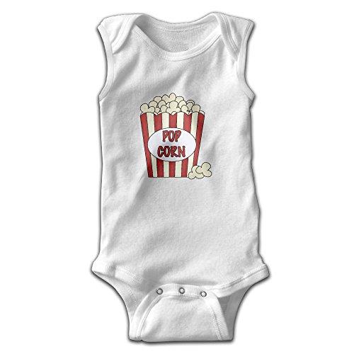 Michael Conti Pop Corn Sleeveless Baby Romper Cotton Kids Jumpsuit Clothes Boys Girls (Popcorn Costume Baby)