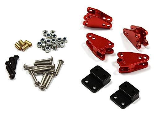 Integy RC Model Hop-ups C25315RED Billet T1 Extended Wheelbase Leaf Spring Mount w//LCG Mod for D90 Crawler