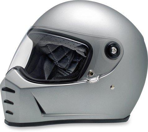 Biltwell Lane Splitter Helmet (X-LARGE) (FLAT SILVER)
