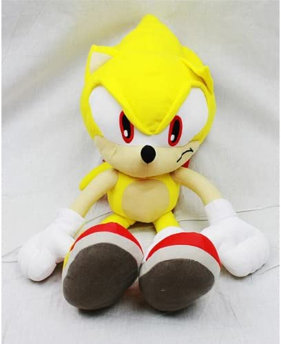 Amazon Com Sonic The Hedgehog Doll Plush Backpack Super Sonic Yellow 24 Inch Toys Games