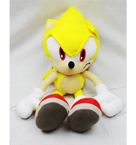Sonic the Hedgehog Doll Plush Backpack - Super Sonic Yellow (24 Inch) (Super Sonic The Hedgehog Plush)