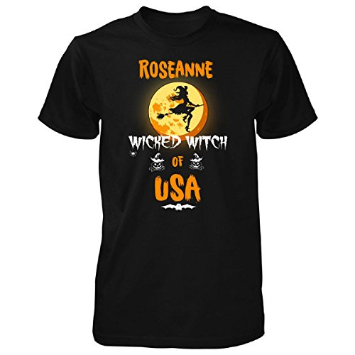 Roseanne Wicked Witch Of Usa. Halloween Gift - Unisex Tshirt Black (Roseanne Halloween Witch)