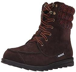 Muk Luks Women's Polly Winter Boot, Brown, 7 M US