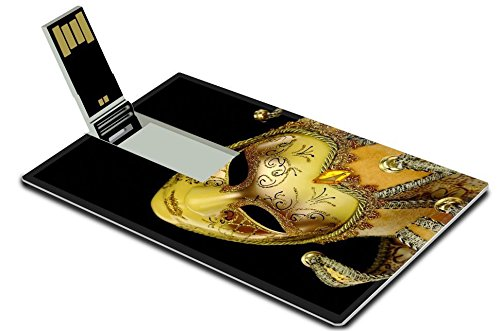 [Luxlady 32GB USB Flash Drive 2.0 Memory Stick Credit Card Size IMAGE ID: 25314904 Vintage venetian carnival mask on black] (Vintage Costume Jewelry Images)