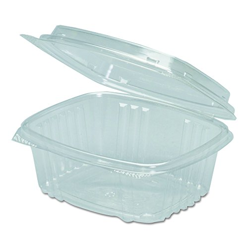 Genpak AD12 Clear Hinged Deli Container, Plastic, 12 oz, 5-3/8 x 4-1/2 x 2-1/2 (Case of 200)