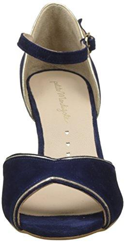 Petite Para Zapatos Mendigote Mujer Tacon Mar Tira Y Con marine Vertical Neptuna Azul RcaWR