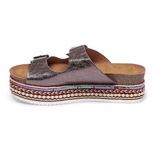 La Modeuse - Sandalias para mujer gris