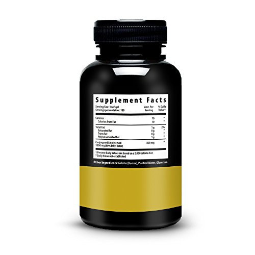 Advanced CLA - Non-GMO - Gluten Free - Highest Potency Softgel Capsules - Increase Lean Muscle Mass - Natural And Safe