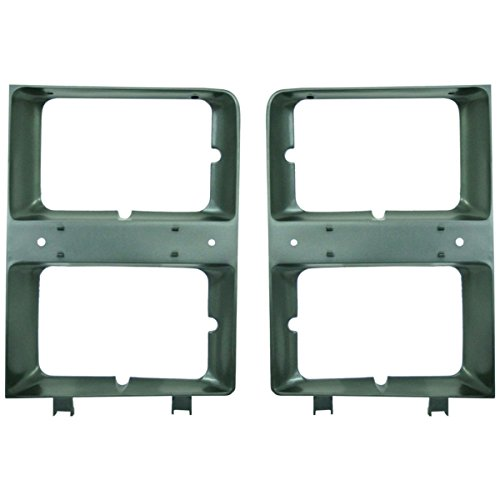 Left Headlight Door - Diften 168-C4925-X01 - New Pack Lots of 2 Headlight Door/Bezel Left & Right Side Primered Blazer Chevy