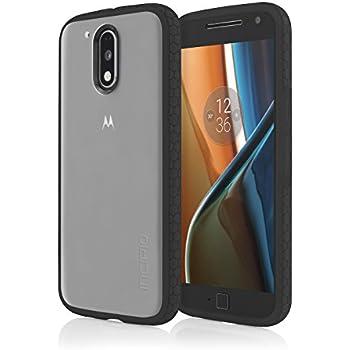 Incipio MT-376-FBLK Octane Case for Motorola Moto G4 & Moto G4 Plus, Retail Packaging Frost/Black