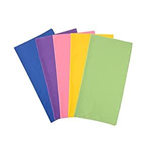 ColorYourLife 5-Pack Large Size (12x12 inches) Microfiber Cleaning Cloths for Apple iPhone , Laptop, Smart phones, Tablets, Lenses, LCD Monitor, TV, Camera, Eye Glasses, Optics Etc (Colorful (5-Pack))