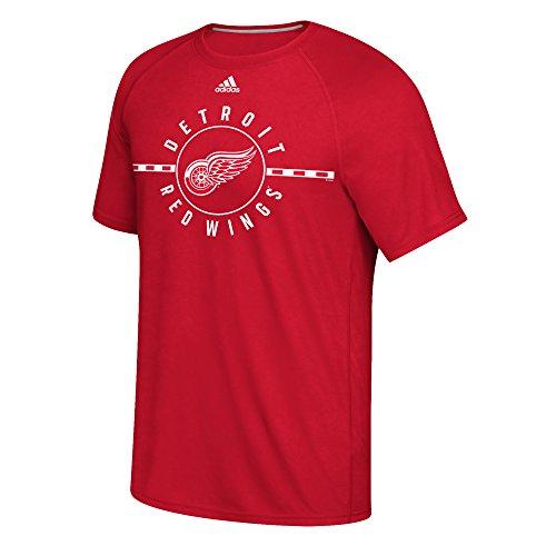 adidas NHL Detroit Wings Mens Line Ultimate S/Teered Line Ultimate S/Tee, Red, Medium