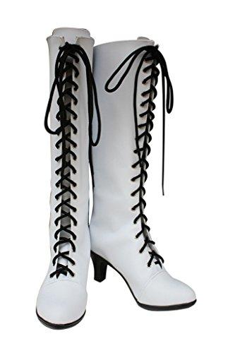 Negro Butler Kuroshitsuji Angela Blanc Cosplay Zapatos Botas Por Encargo