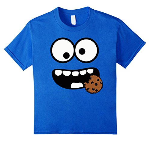 Kids Cute Cookie and Scary Monster Halloween T-shirt 10 Royal (Cookie Monster Girl Costumes)