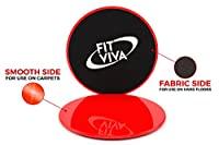 FLASH SALE! Professional Gliding Discs and Resistance Loop Bands Bundle with exercise eBook from Fit Viva - Lightweight Workout Equipment for Home
